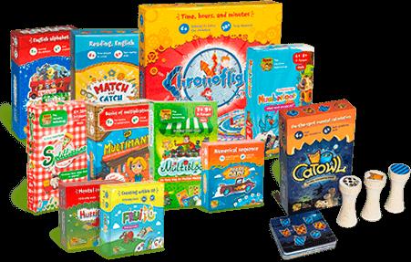 קטלוג משחקי למידה לילדים גלאי 4--10